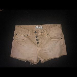 Free people tan jean  shorts